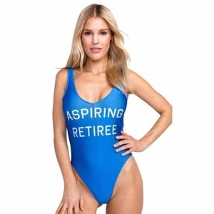 Wildfox Swim - NWT 'Aspiring Retiree' One Piece Swimsuit